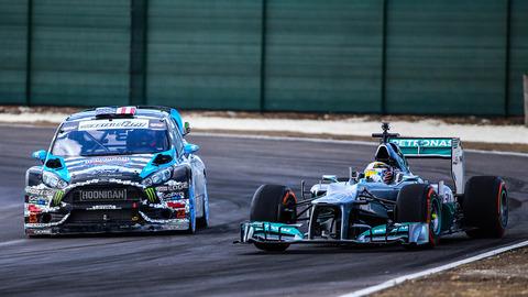 Ken-Block-vs-Lewis-Hamilton