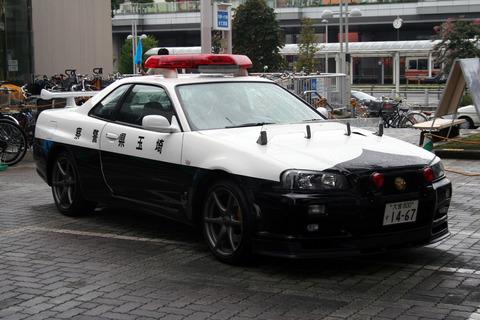 Japanese_NISSAN_SkylineR34_GTR_police_car