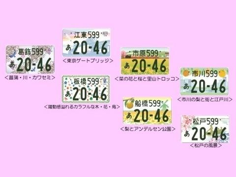 関東地区のクソダサ図柄入りナンバープレートの料金が決定