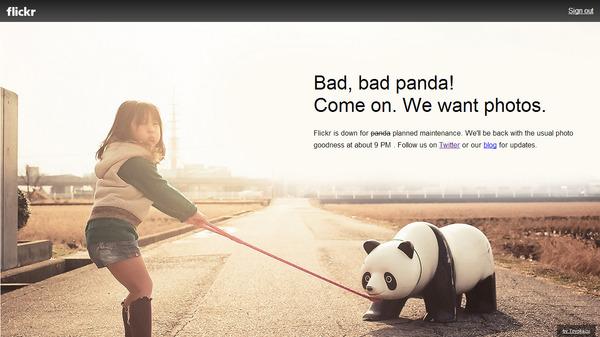 Flickrのエラー画面