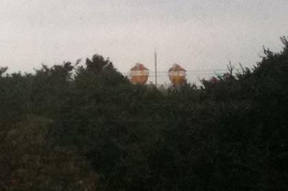 山崎屋食堂から見えるむさしの村の観覧車