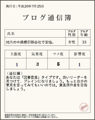 ブログ通信簿ver7.25