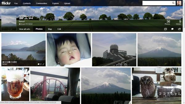 Flickrセットページ