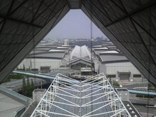 東京ビッグサイト会議棟7Fからの景色