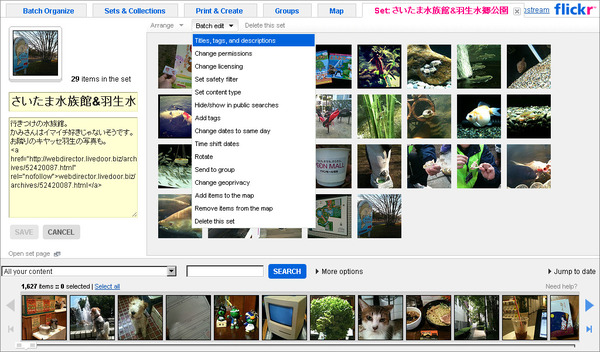 Flickrでまとめて修正02
