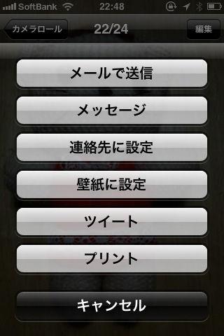 iOS5のTwitter共有画像メニュー