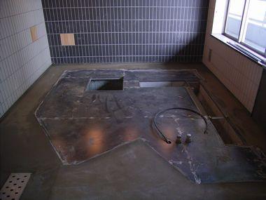 鋼製床敷&モルタル補修