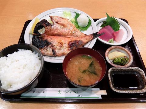 金目鯛干物定食/味のあとりえ まつなが(名古屋駅)