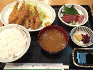 わかさぎフライ定食/味のあとりえ まつなが(名古屋駅)