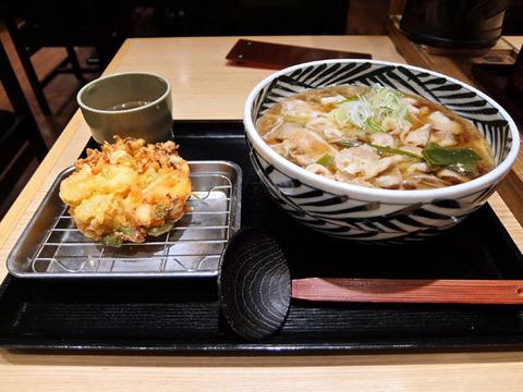 豚肉そば柚子こしょう風味/おらが蕎麦湯にモール店(名古屋駅)