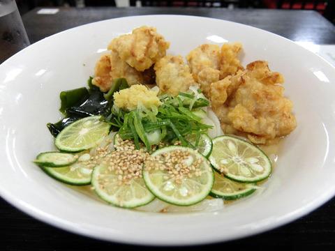 すだち鳥天うどん/日の出製麺所(JR名古屋タカシマヤ催事)