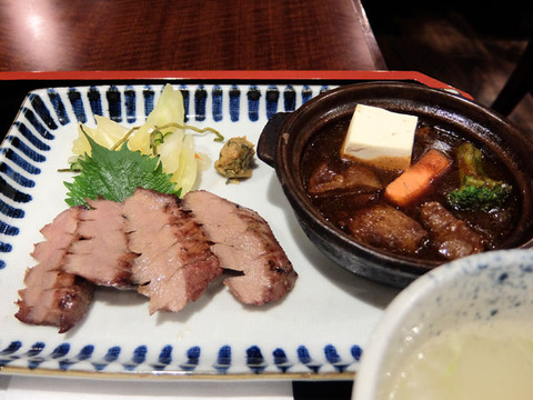 上タン焼きと厚切りタンシチュー定食/牛たん焼き仙台辺見ユニモール店(名古屋駅)