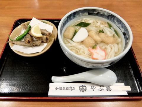 志の田きしとメヒカリ唐揚げ/なごやめん処 やぶ福(名古屋駅)