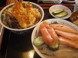 たらこ丼&甘えび天丼