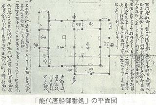 能代唐船御番処の平面図