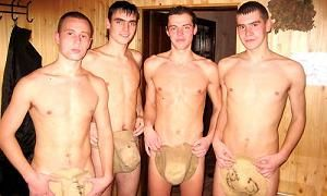 Ukraine Gay Boys and Russian Gay Boys Nude in the Sauna