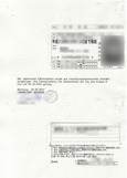 免許受領書類