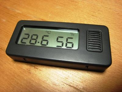 MUJI_hermohygrometer_Black 【無印良品】 デジタル温湿度計 ...