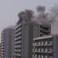 名古屋 日本ガイシアリーナ付近の団地から出火