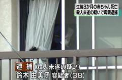 世田谷区 母親が生後3ヵ月の乳児を浴槽に沈めて殺害