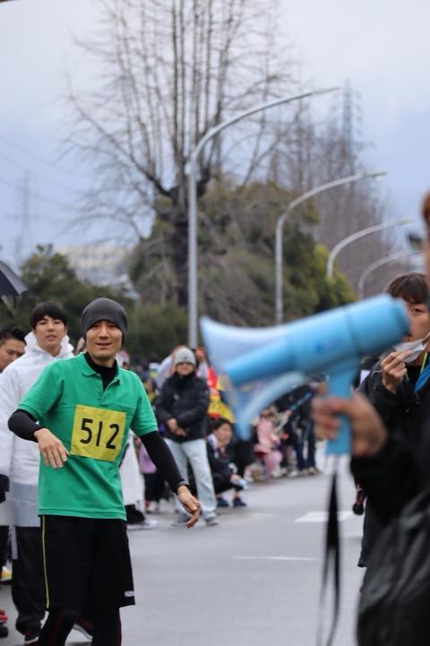 平岡走ります