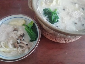 ひとり豆乳鍋