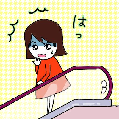 エレベーターで