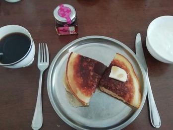 夫のホットケーキ