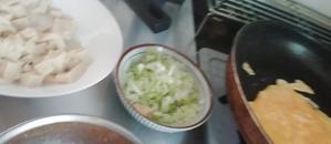 たまご、ねぎ、高野豆腐