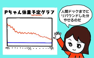 体重予定グラフ