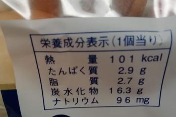 バターロール栄養成分