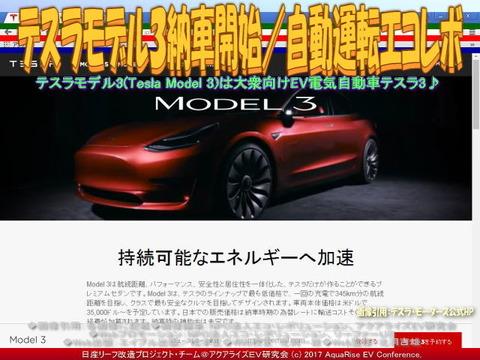 テスラ3納車開始/自動運転エコレボ画像