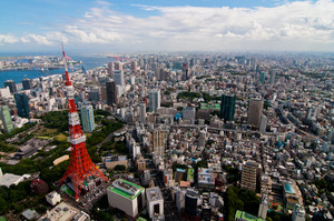 東京タワーと周囲の町並み