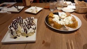 デザートのアイスとパウンドケーキ
