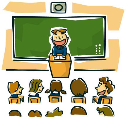 教室は授業中
