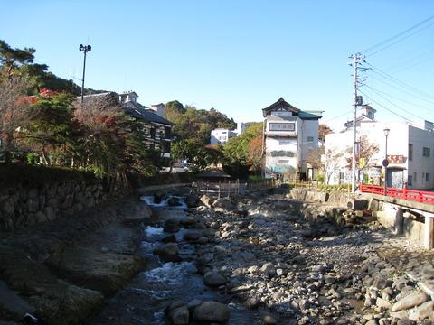 修善寺の桂川
