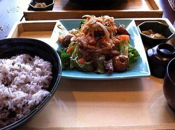 大戸屋野菜サラダ風冷製鶏の南蛮漬け定食横井の赤酢入り