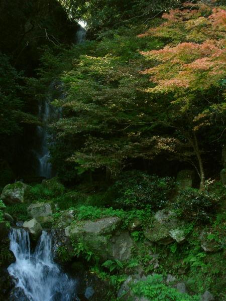 滝と紅葉26
