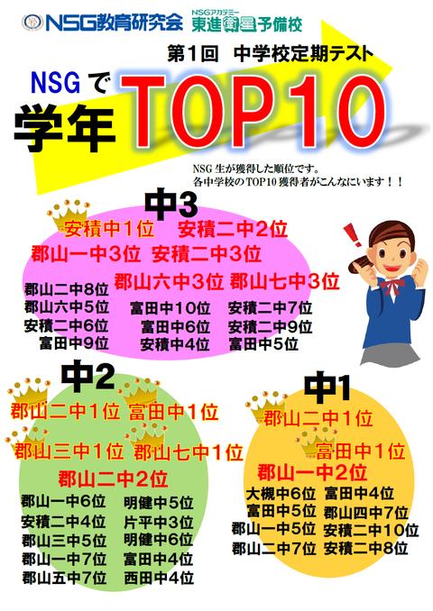 19 定期テスト①TOP10(郡山全体)画像版