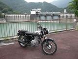 井川ダムにて。