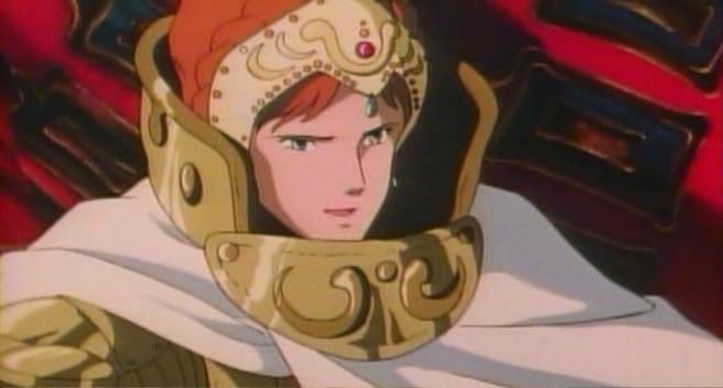 風の谷に来たクシャナ殿下