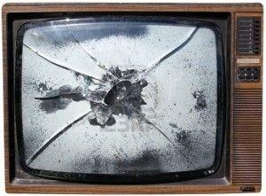 テレビ破壊