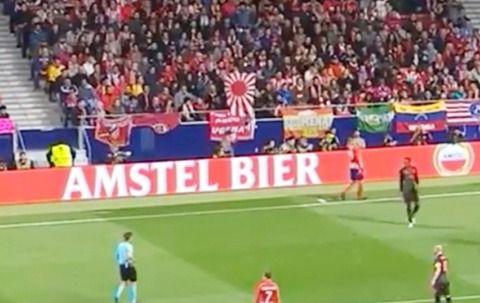 サッカー欧州リーグ決勝戦でまた「旭日旗」