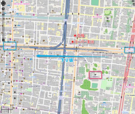 谷九界隈MAP