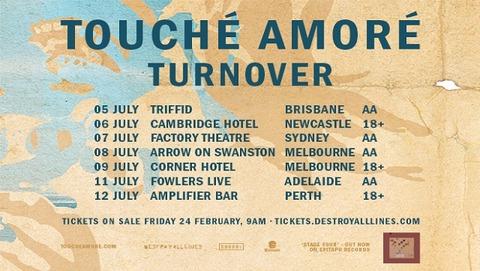 touche amore aus tour 2017