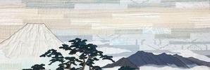 南湖の松原左富士