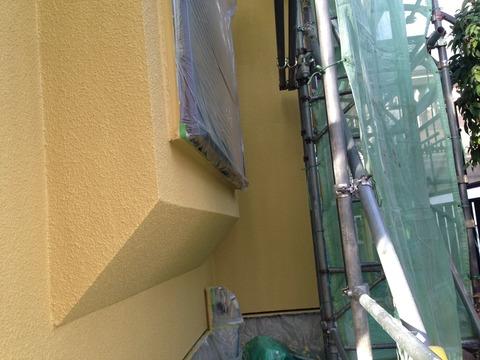 23日外壁シリコン上塗り完成
