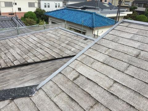 屋根高圧洗浄完了2