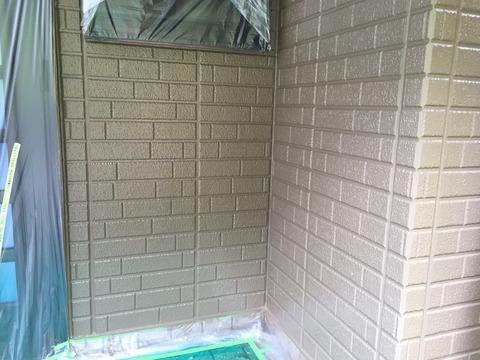 奈良県五條市外壁シリコン上塗り完成