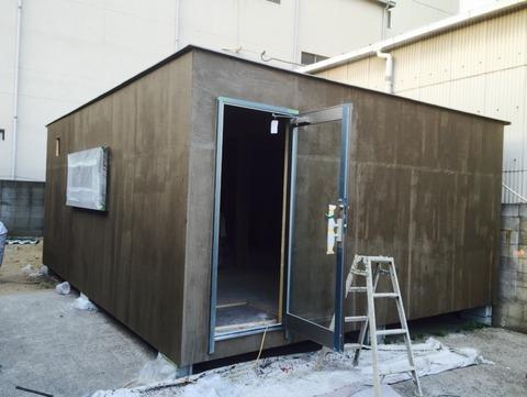 外壁水性塗膜防水施行中